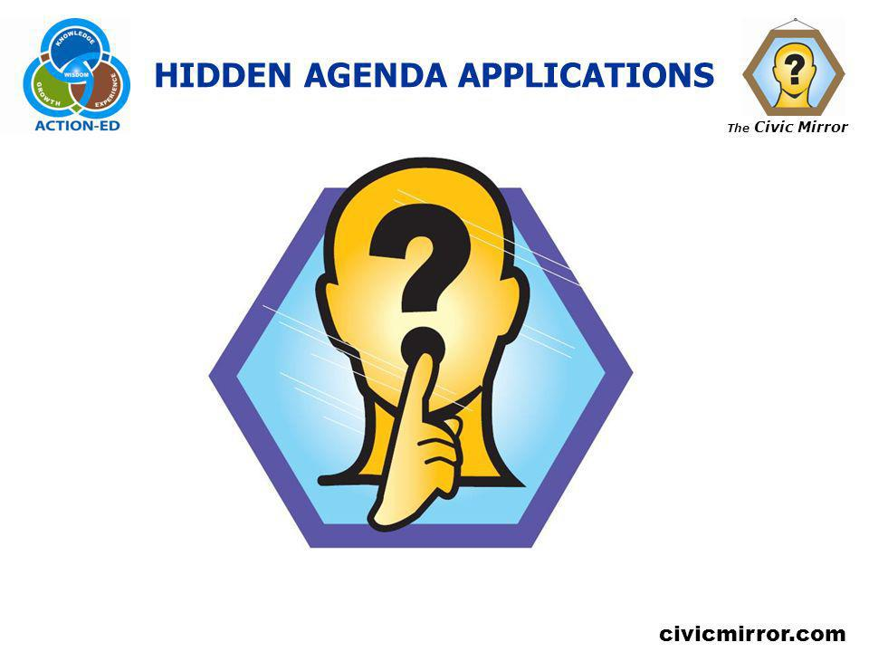 HIDDEN AGENDA APPLICATIONS