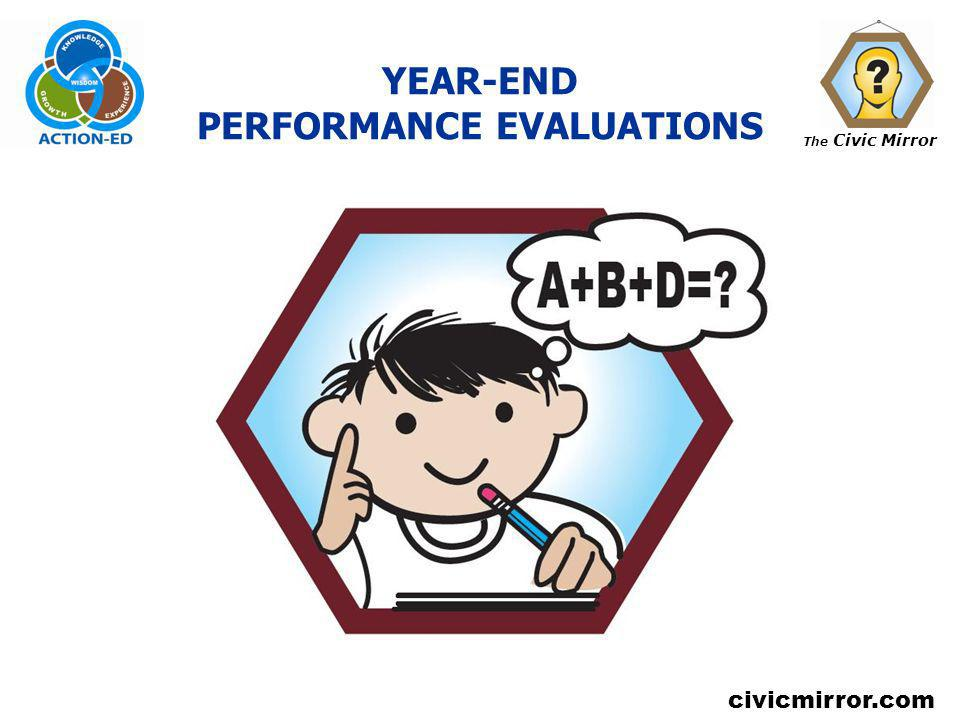 YEAR-END PERFORMANCE EVALUATIONS