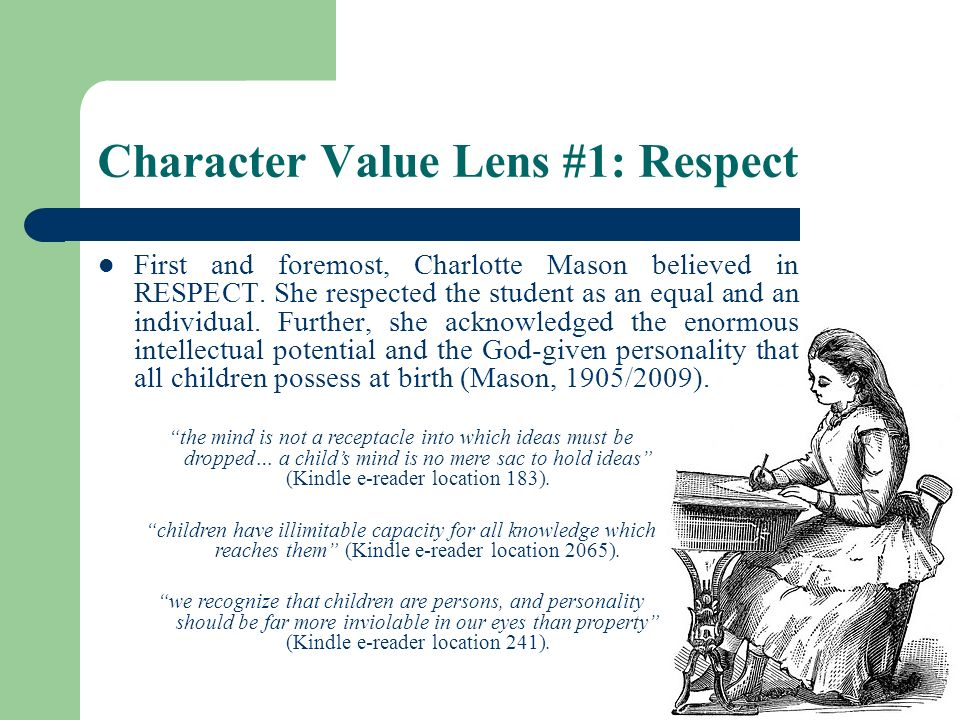 Character Value Lens #1: Respect