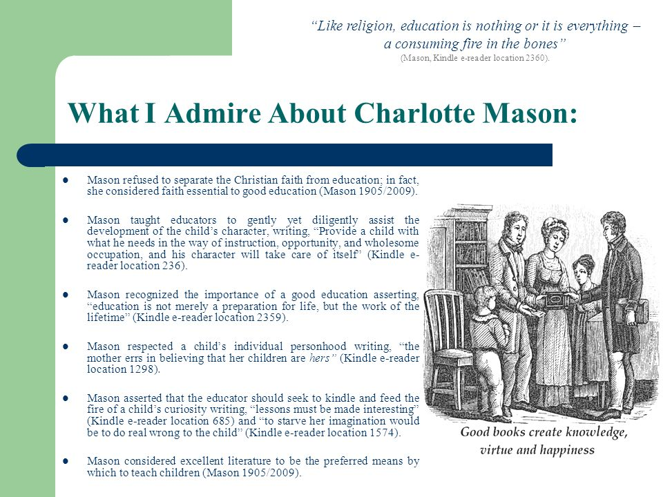 What I Admire About Charlotte Mason: