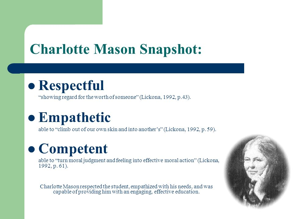 Charlotte Mason Snapshot: