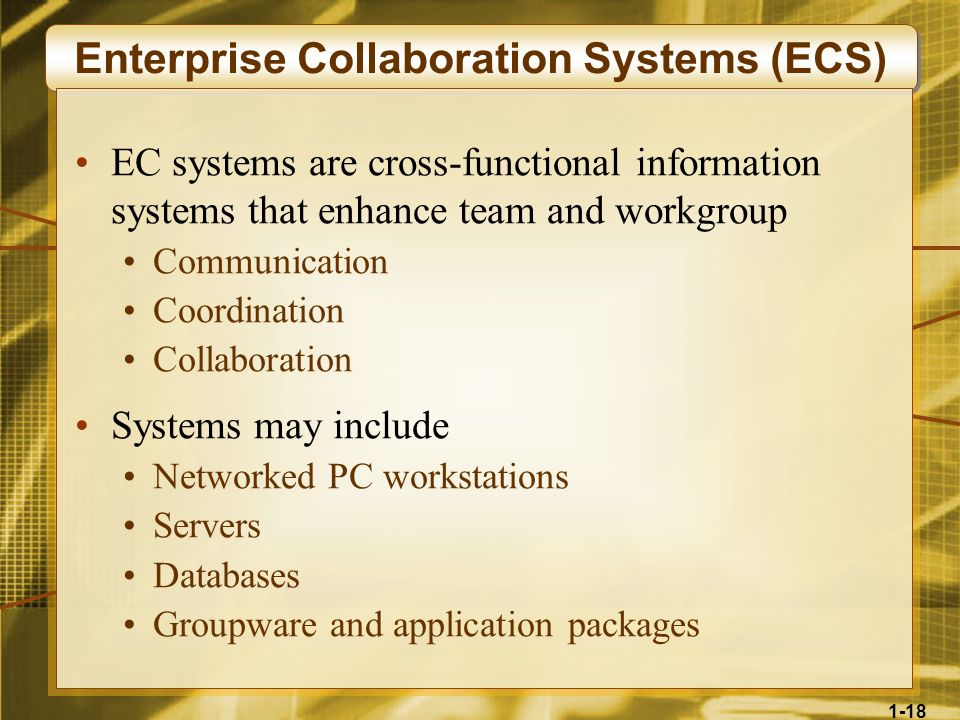 Enterprise Collaboration Systems (ECS)
