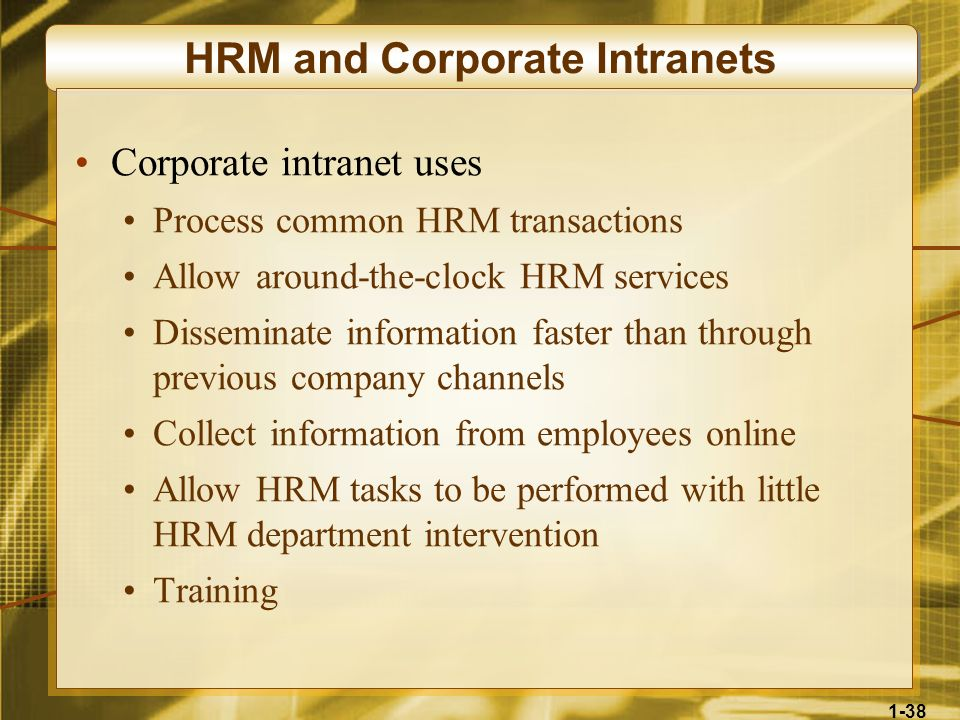HRM and Corporate Intranets