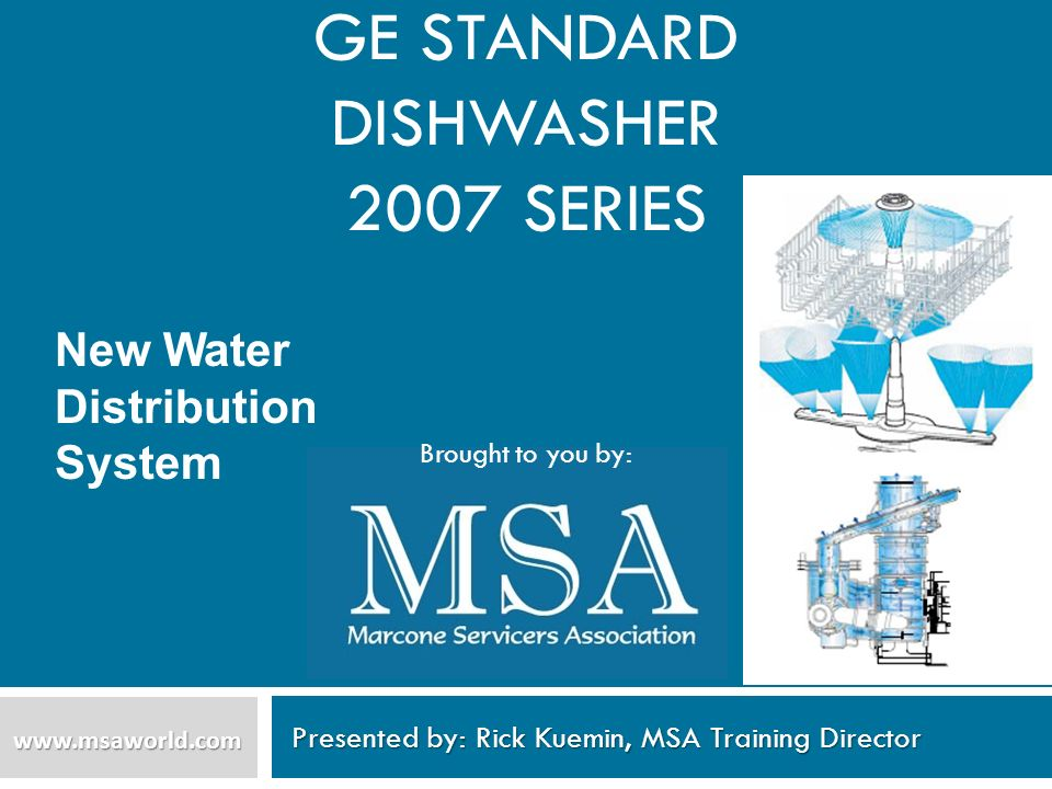 GE Standard Dishwasher 2007 series