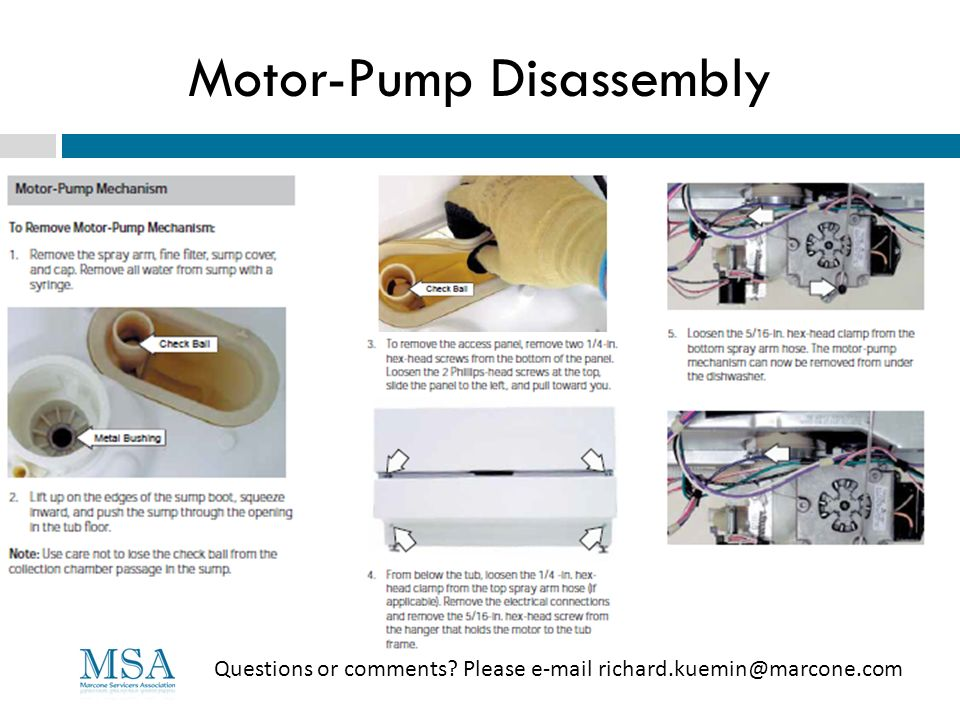Motor-Pump Disassembly