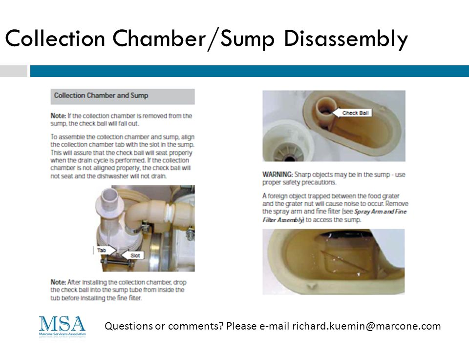 Collection Chamber/Sump Disassembly