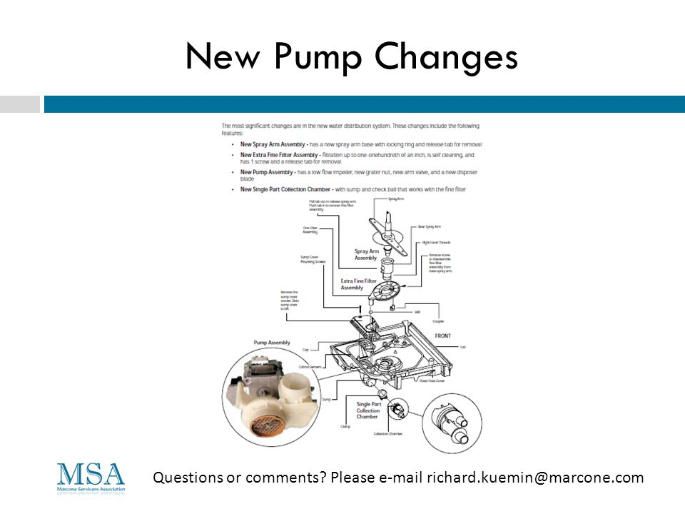 New Pump Changes Questions or comments Please e-mail richard.kuemin@marcone.com