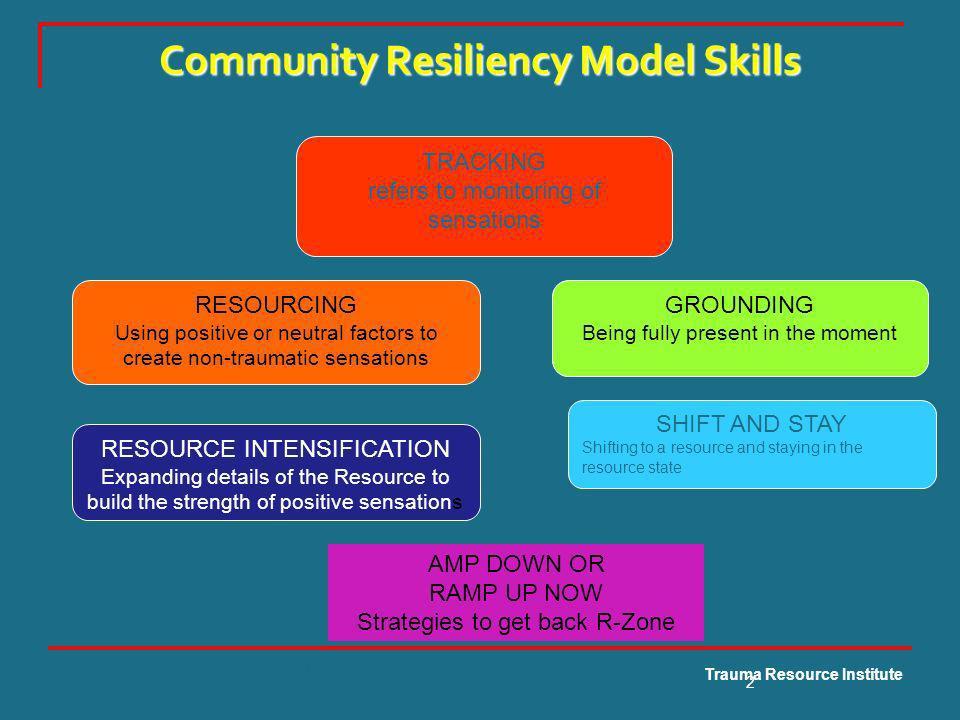 Community Resiliency Model Skills