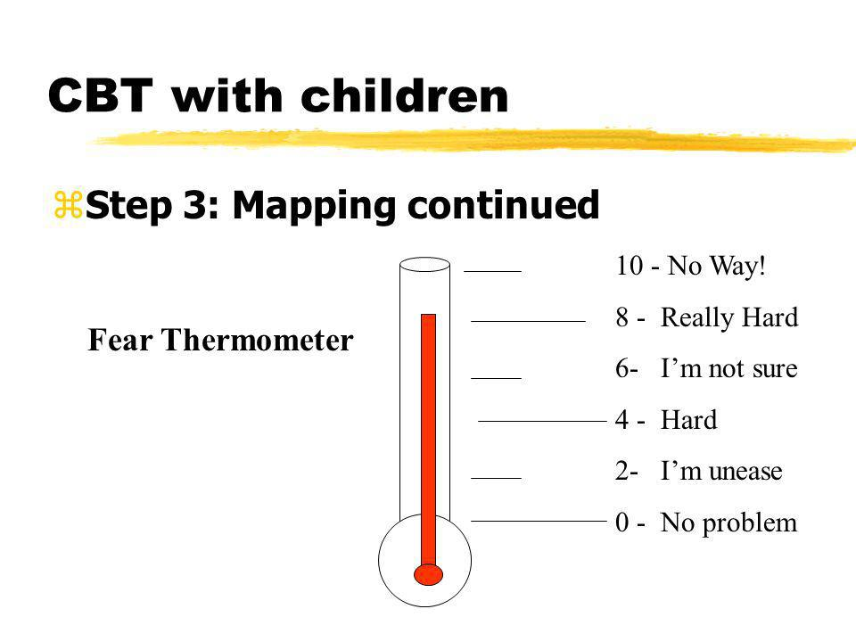CBT with children Step 3: Mapping continued Fear Thermometer