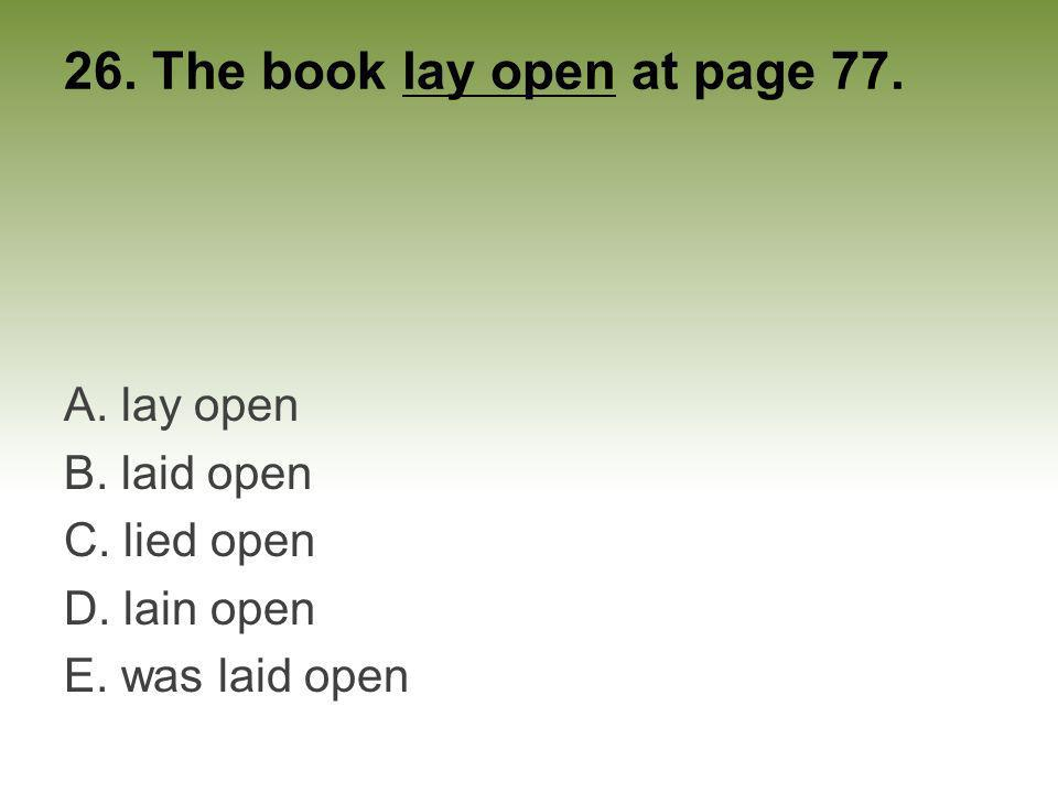 26. The book lay open at page 77.