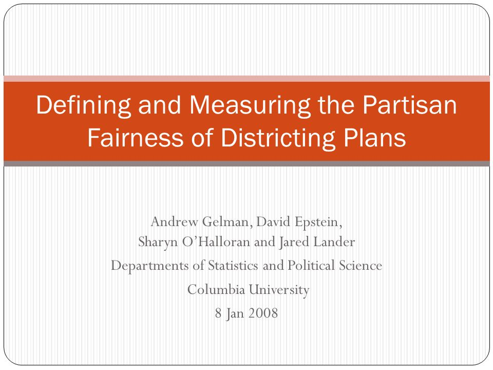 Defining and Measuring the Partisan Fairness of Districting Plans
