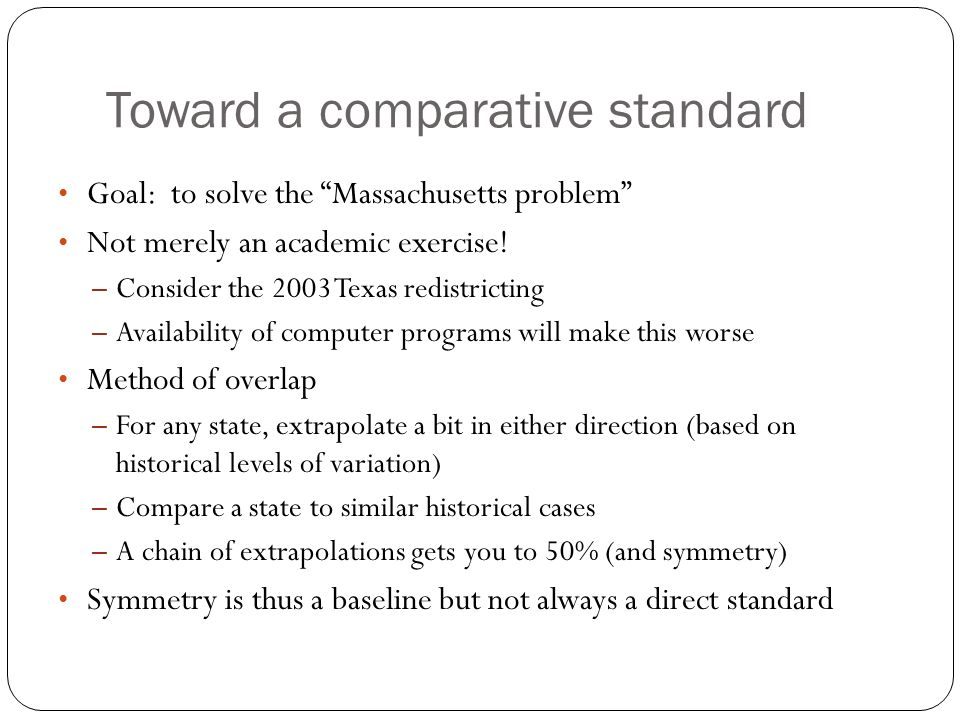 Toward a comparative standard
