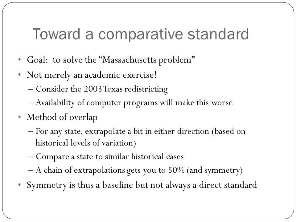 Toward a comparative standard