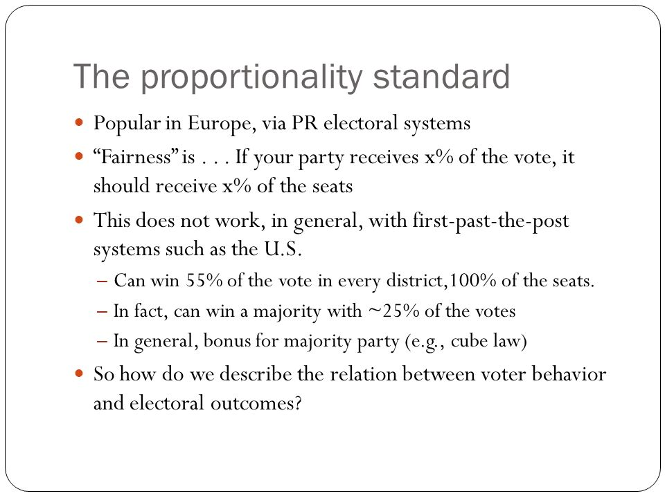 The proportionality standard