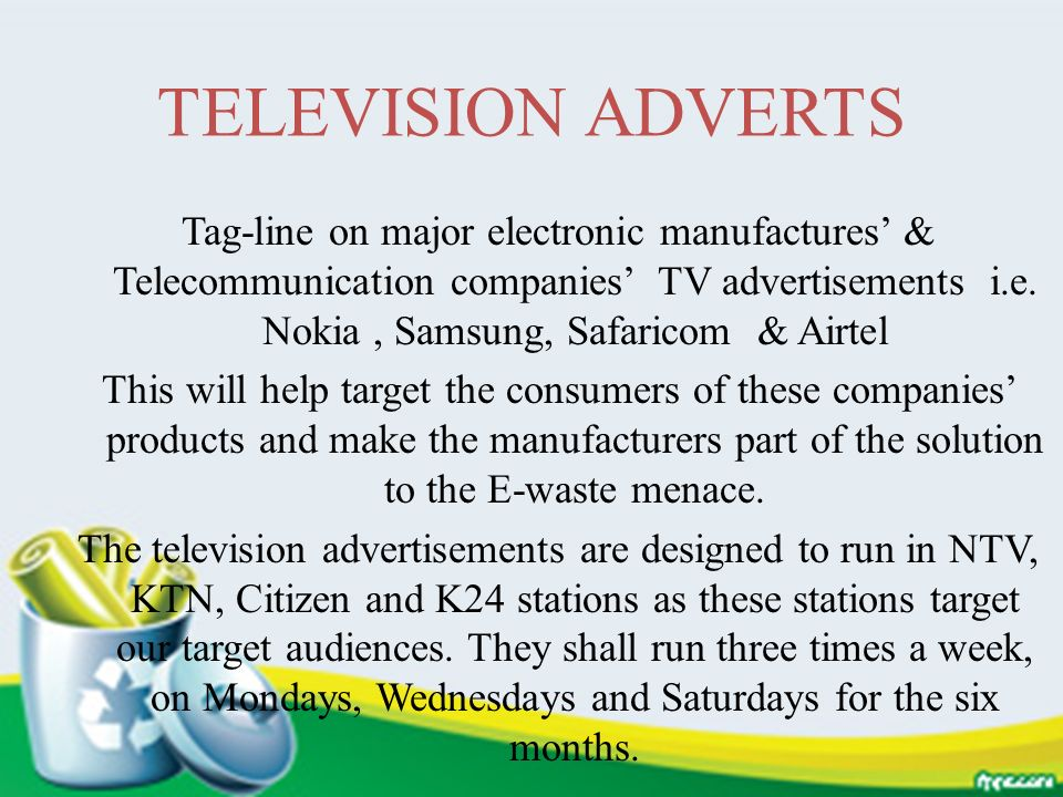 TELEVISION ADVERTS