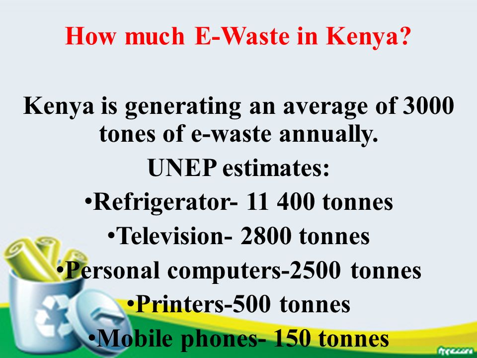 How much E-Waste in Kenya