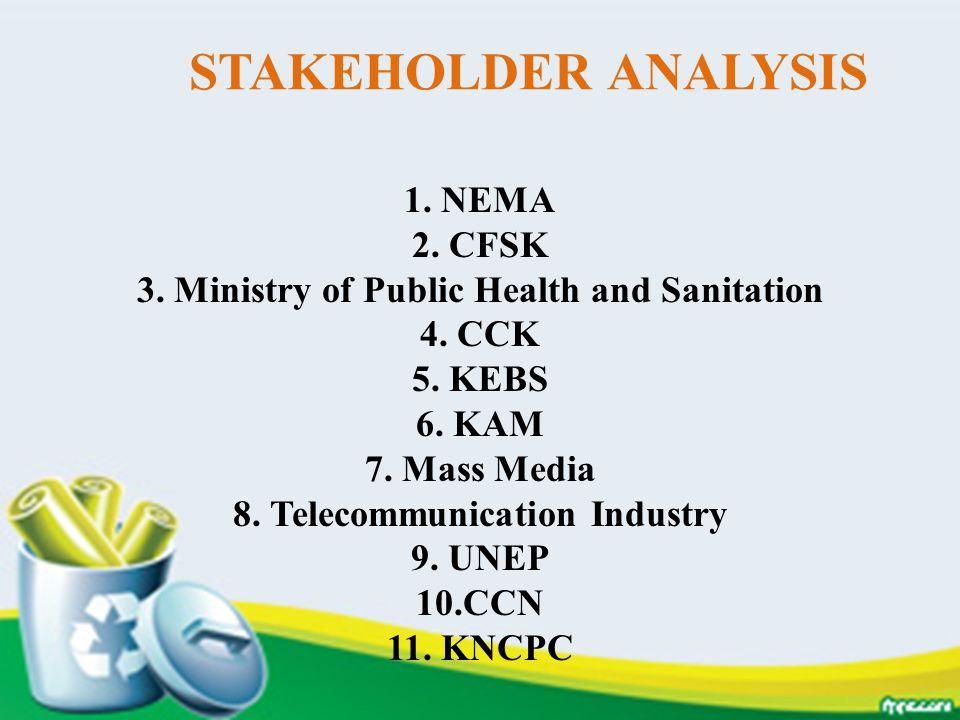 STAKEHOLDER ANALYSIS 1. NEMA 2. CFSK