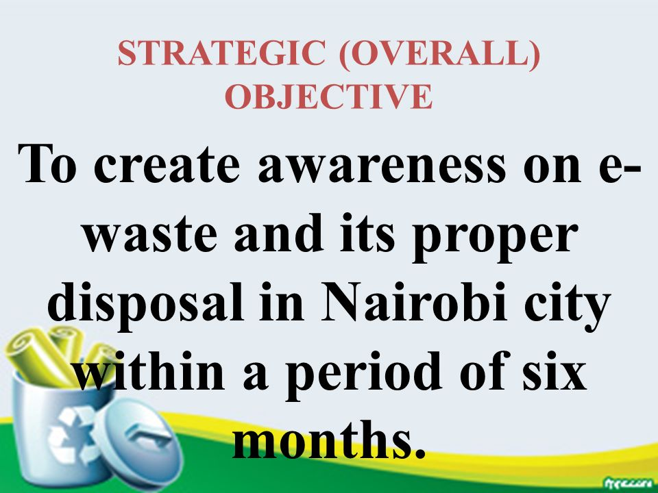 STRATEGIC (OVERALL) OBJECTIVE
