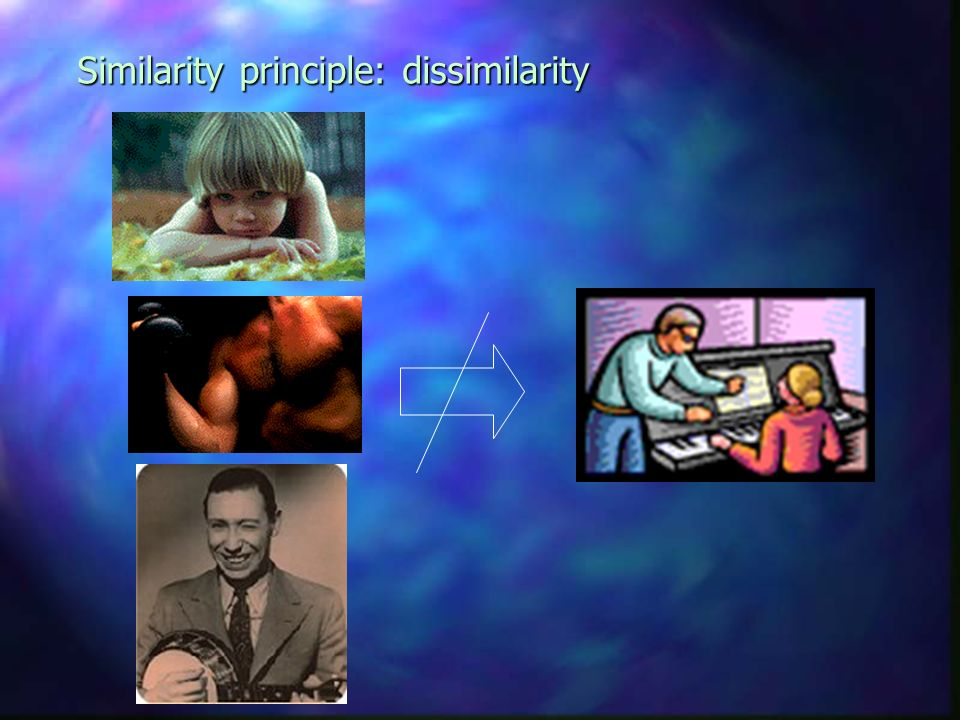 Similarity principle: dissimilarity