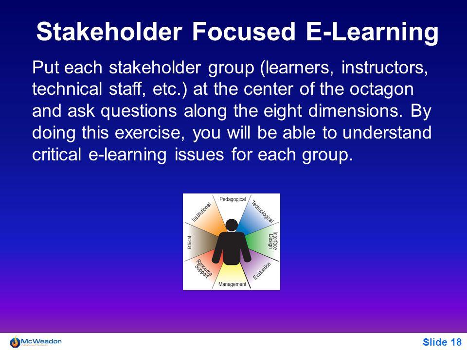 Stakeholder Focused E-Learning