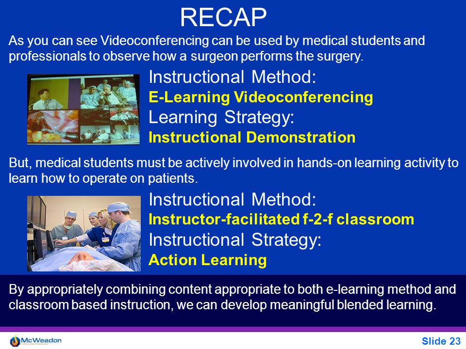 RECAP Instructional Method: Learning Strategy: Instructional Strategy: