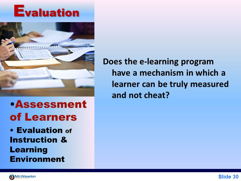 Evaluation Assessment of Learners