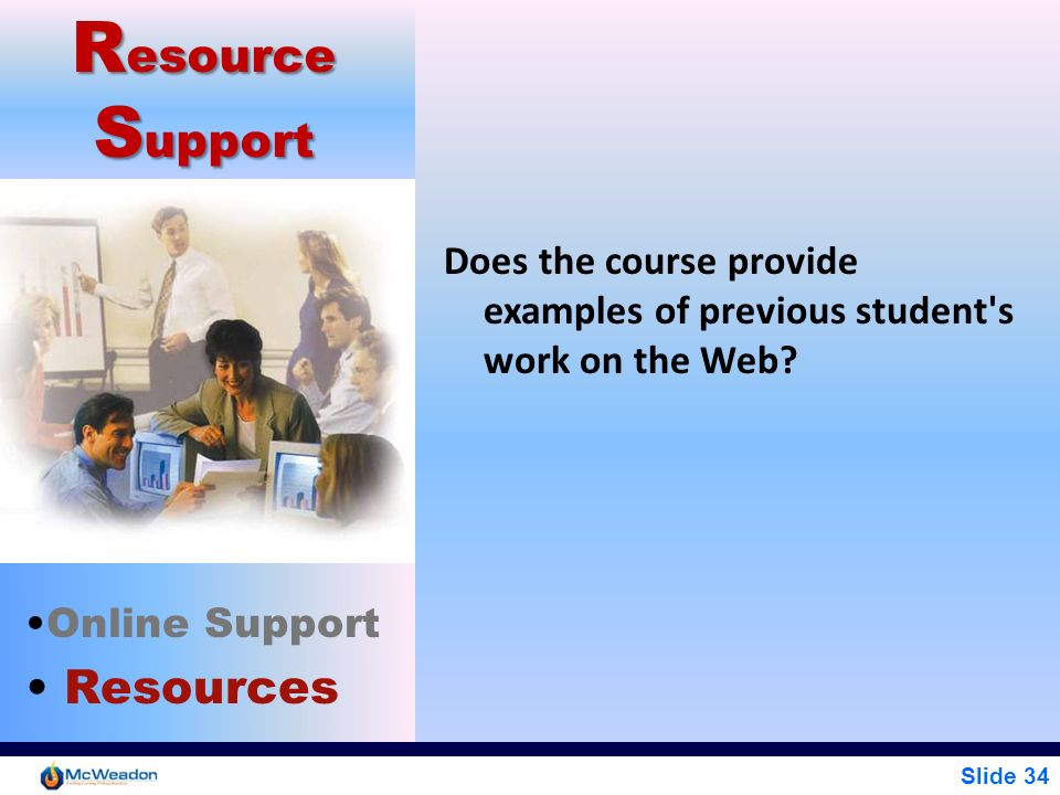 Resource Support Resources