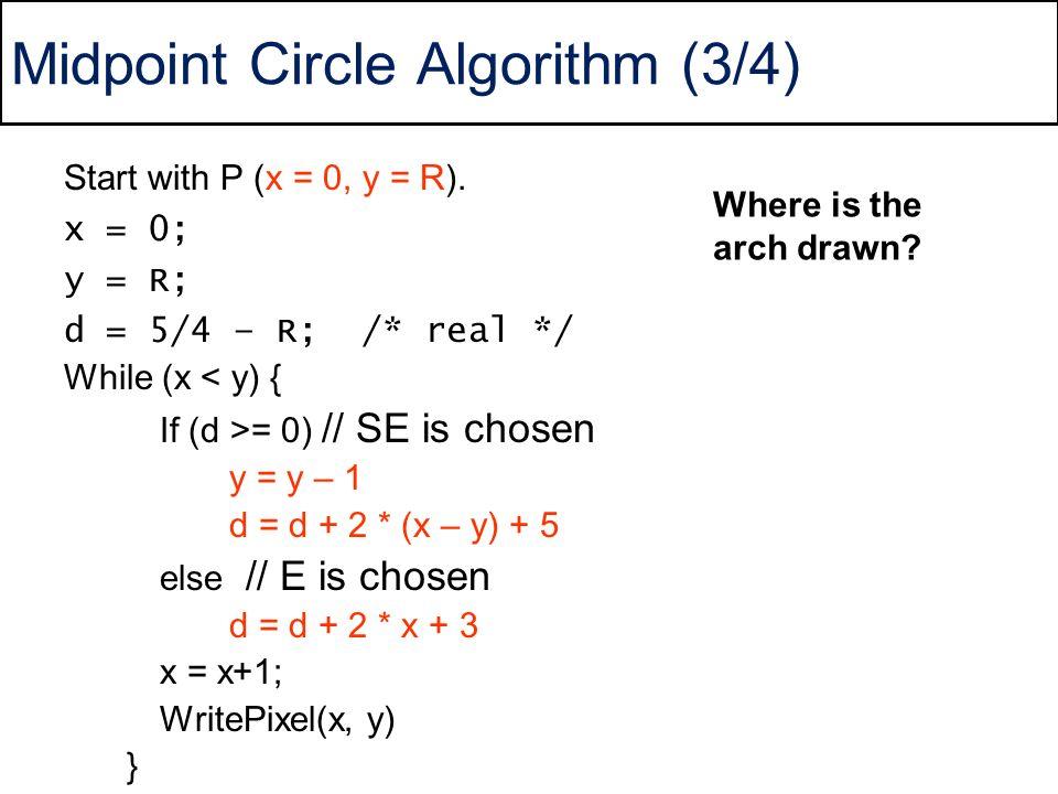 Midpoint Circle Algorithm (3/4)