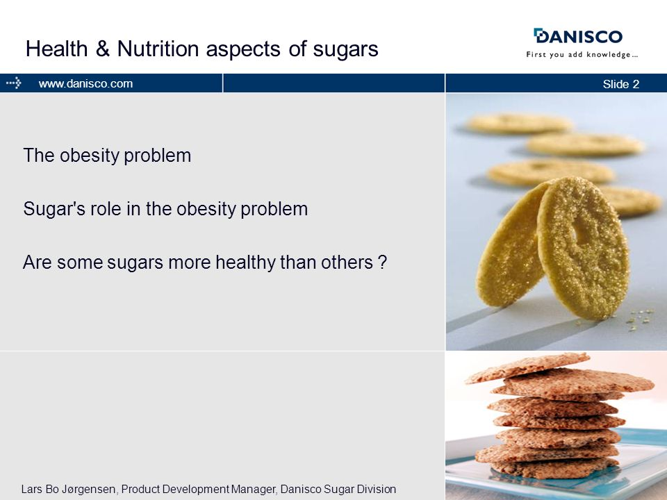Health & Nutrition aspects of sugars