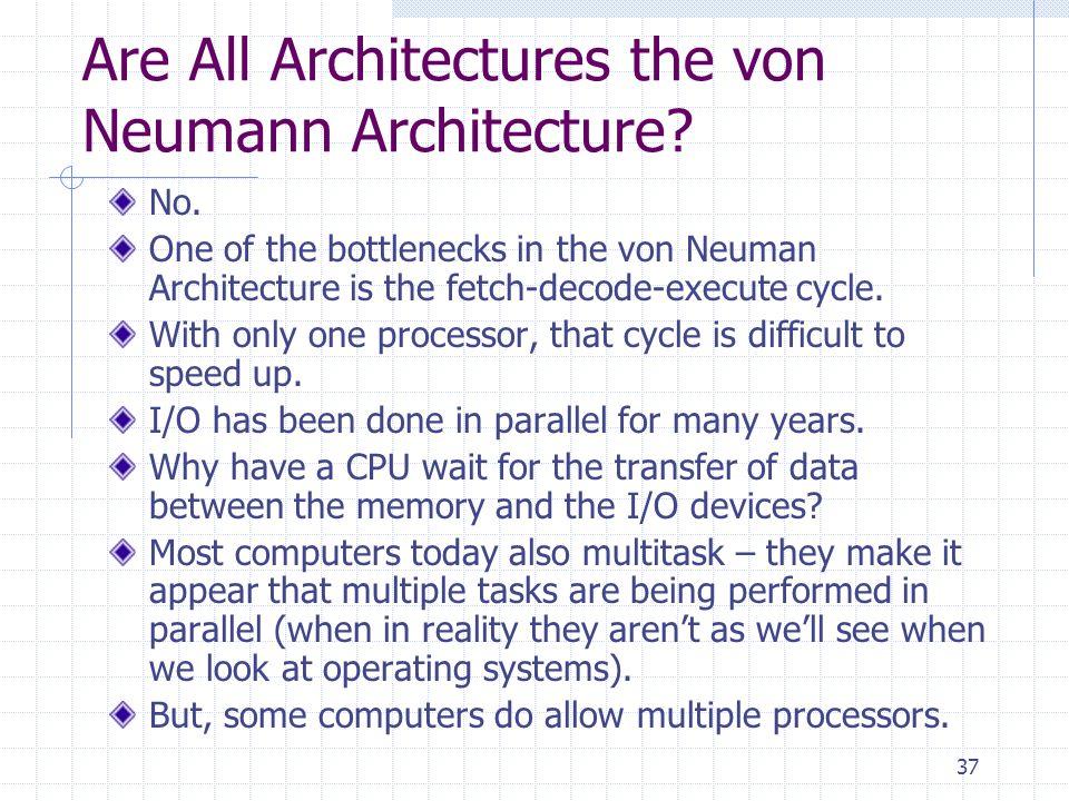 Are All Architectures the von Neumann Architecture