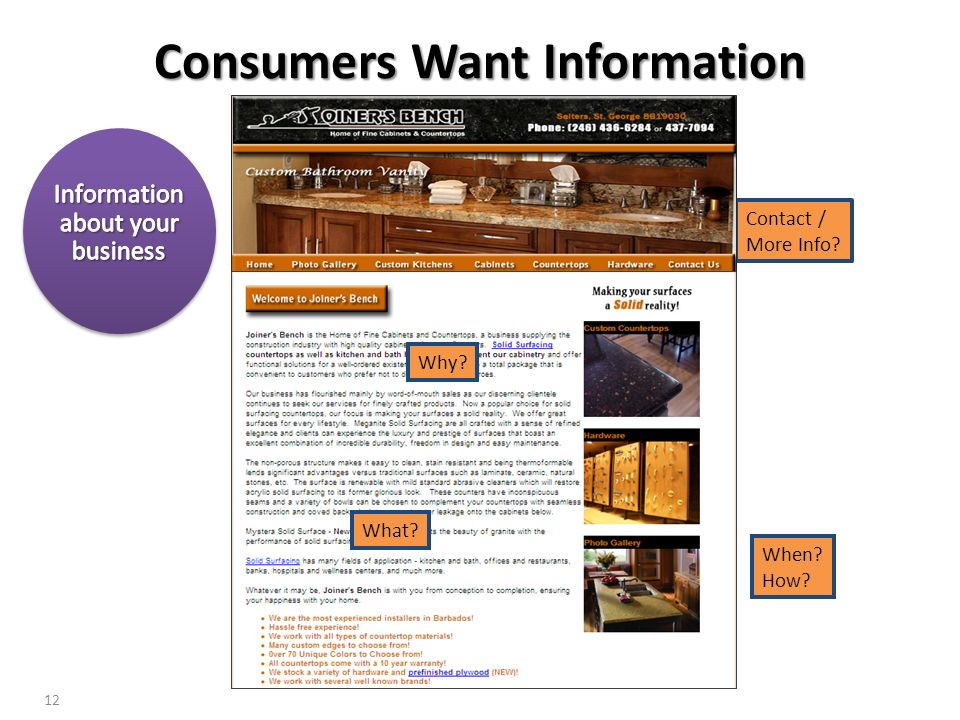 Consumers Want Information
