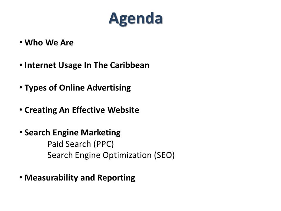 Agenda Who We Are Internet Usage In The Caribbean