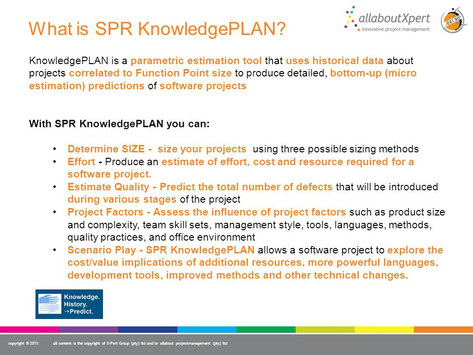 What is SPR KnowledgePLAN