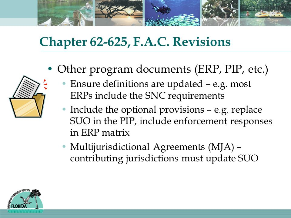 Chapter , F.A.C. Revisions