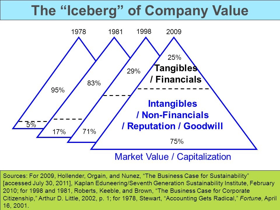 The Iceberg of Company Value