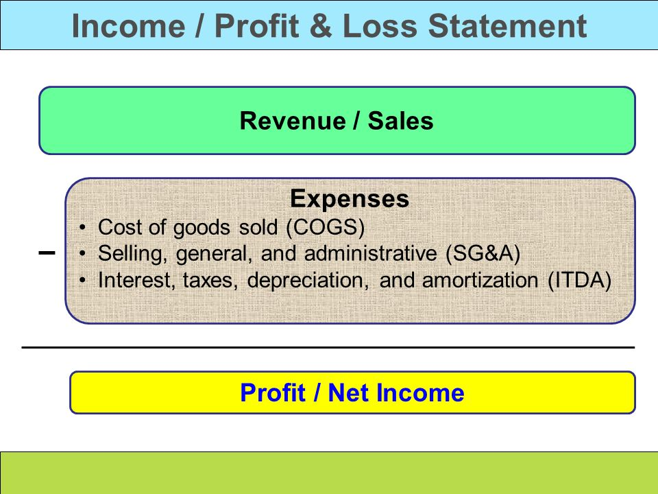 Income / Profit & Loss Statement