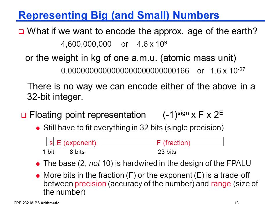 Representing Big (and Small) Numbers
