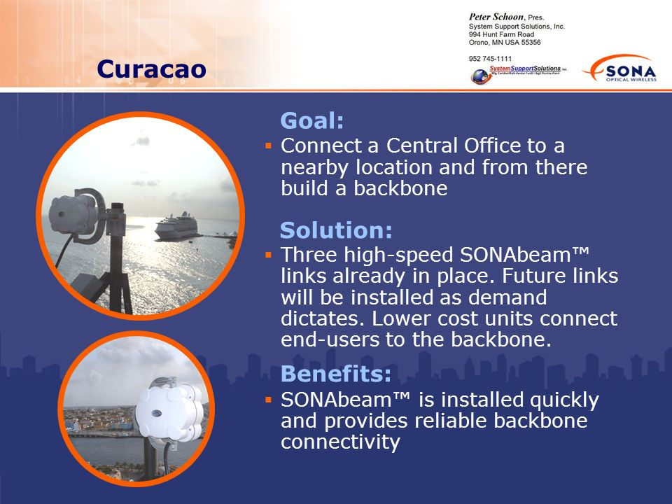 Curacao Goal: Solution: Benefits: