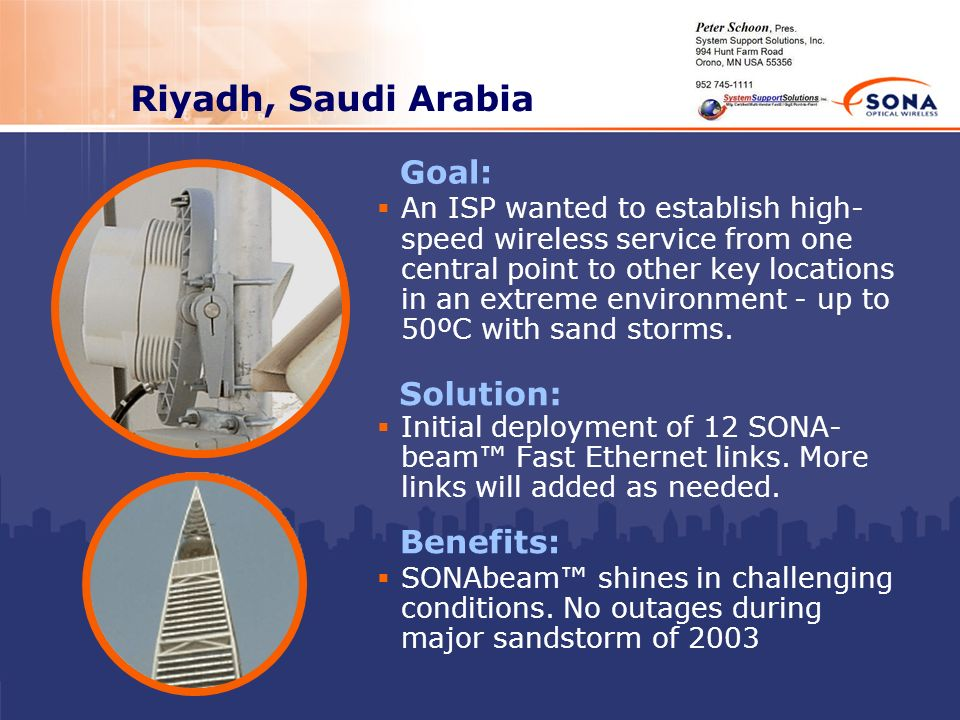 Riyadh, Saudi Arabia Goal: Solution: Benefits: