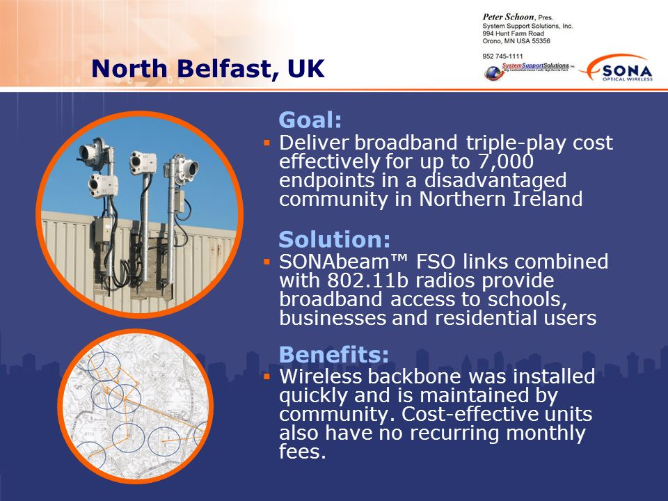 North Belfast, UK Goal: Solution: Benefits: