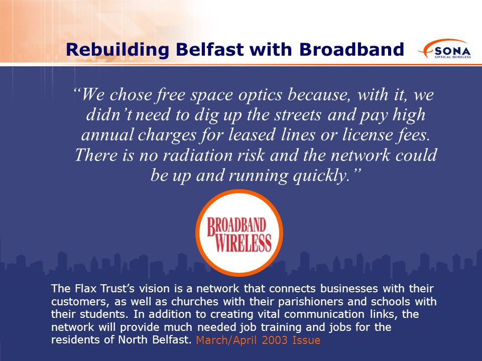Rebuilding Belfast with Broadband