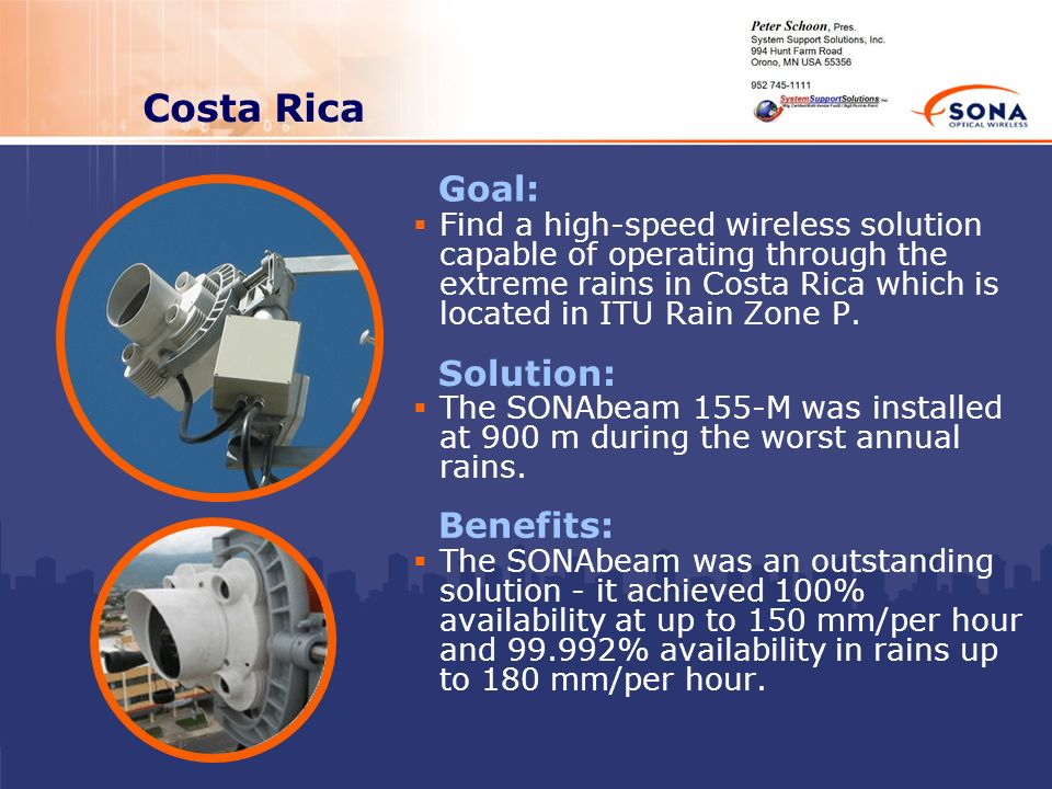 Costa Rica Goal: Solution: Benefits: