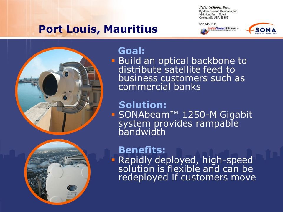 Port Louis, Mauritius Goal: Solution: Benefits: