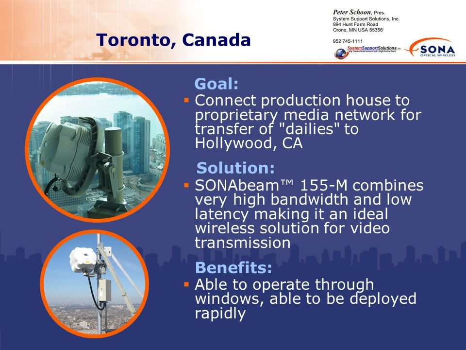 Toronto, Canada Goal: Solution: Benefits: