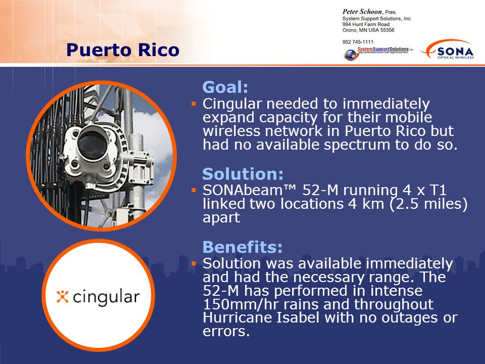 Puerto Rico Goal: Solution: Benefits: