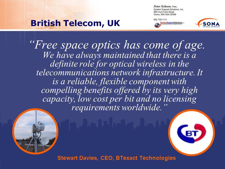 Stewart Davies, CEO, BTexact Technologies