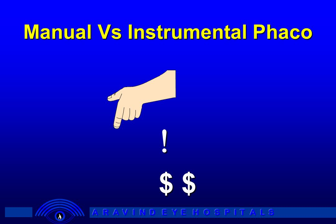 Manual Vs Instrumental Phaco