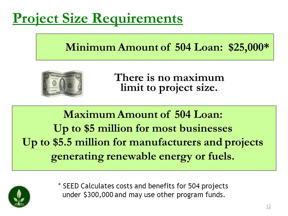 Project Size Requirements