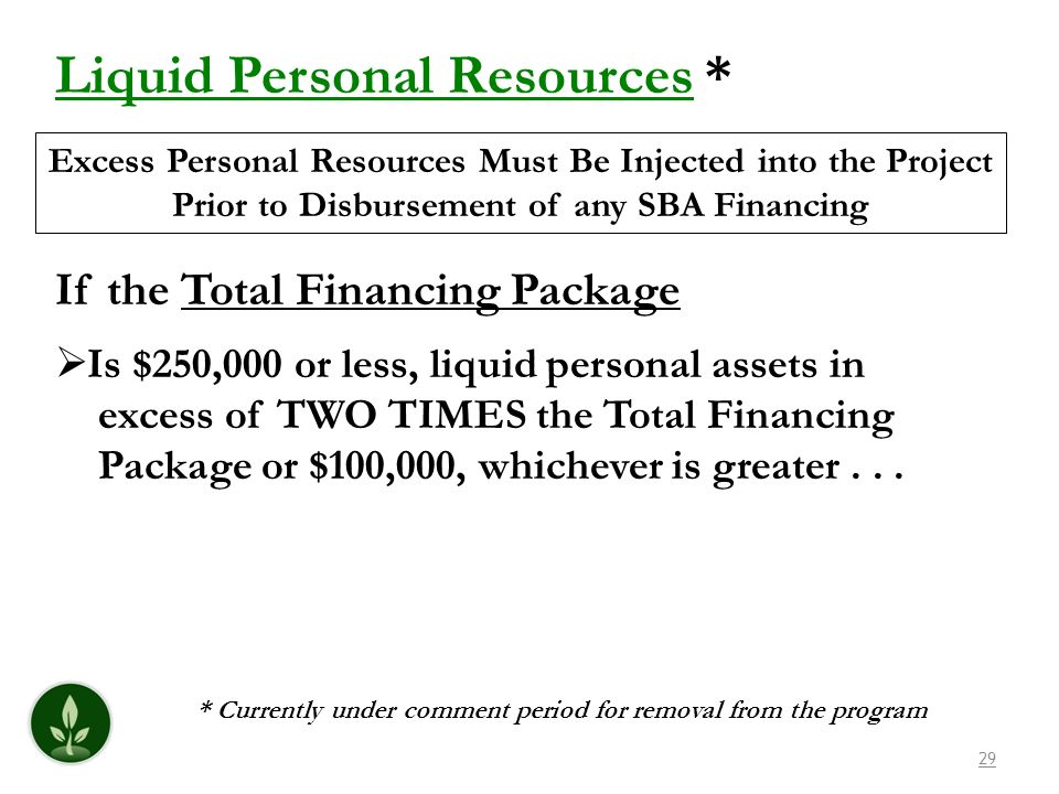 Liquid Personal Resources *