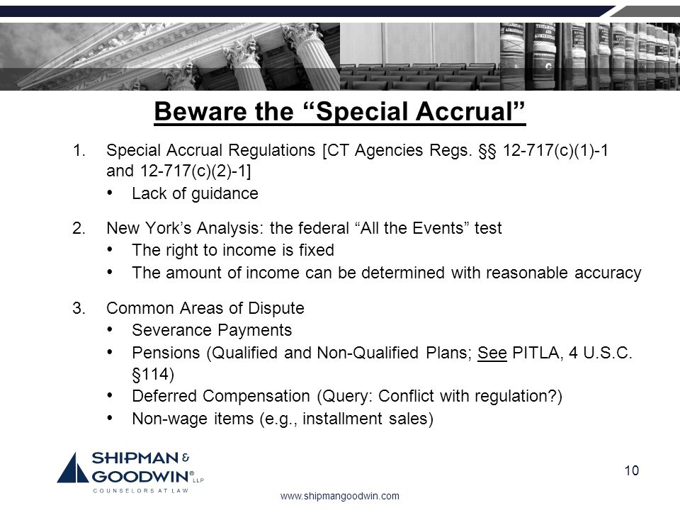 Beware the Special Accrual